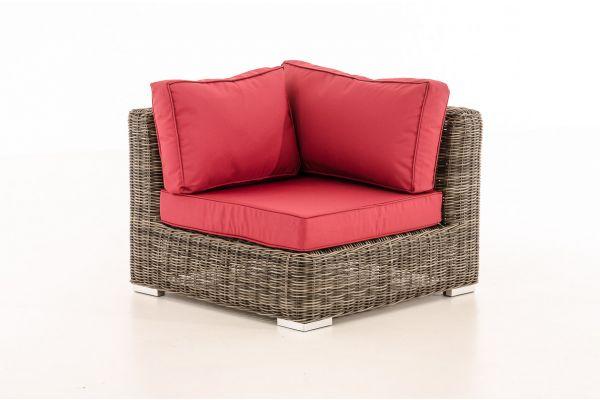 Eckelement Ariano 84x84cm Rubinrot grau-meliert
