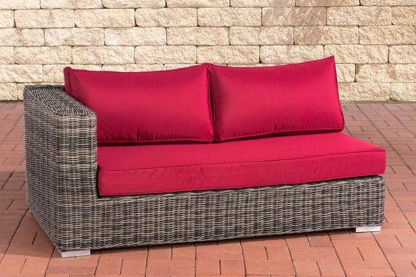 2er Seitenelement Rechts Ariano 150 Rubinrot grau-meliert