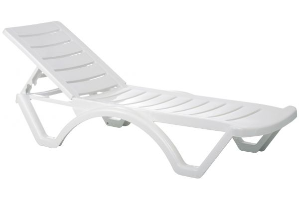 Set van 4 ligstoelen Aqua