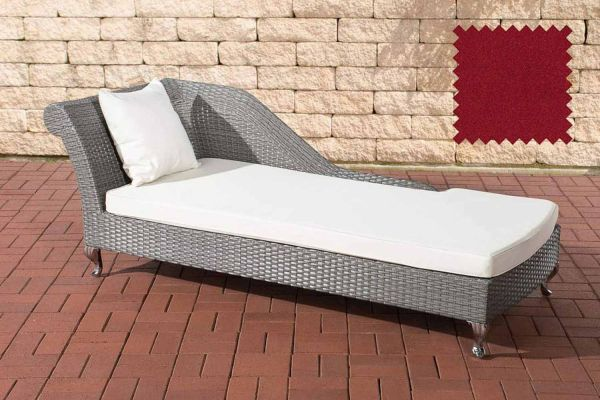 Chaiselongue Savannah rubinrot grau