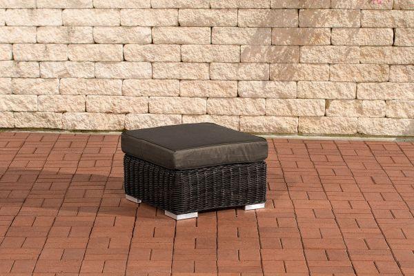 Fußhocker Ariano 56x56cm Anthrazit schwarz