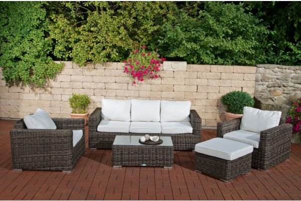Wicker Loungeset BILBAO XL