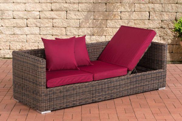 Lounge-Sofa Solano 5mm Rubinrot braun-meliert