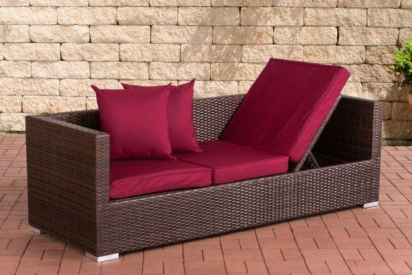 Lounge-Sofa Solano Rubinrot braun-meliert