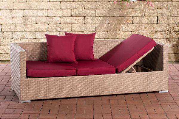 Lounge-Sofa Solano rubinrot sand