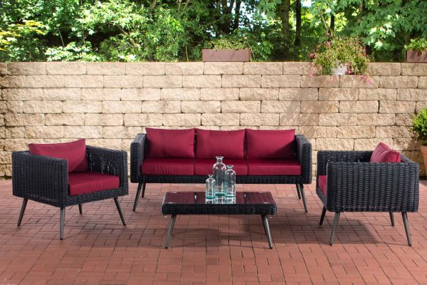Loungeset Molde 3-1-1 - 5mm poly rotan zwart