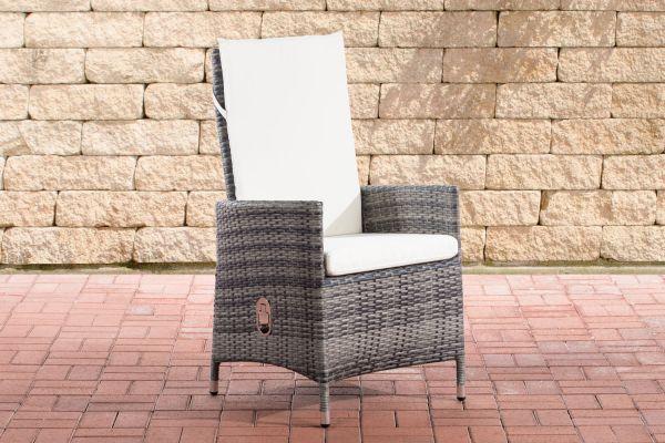 Stuhl Sevilla cremeweiß grau-meliert