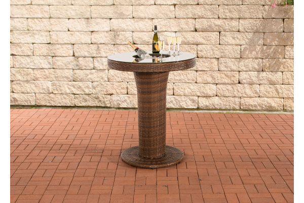 Tisch Mari L braun-meliert