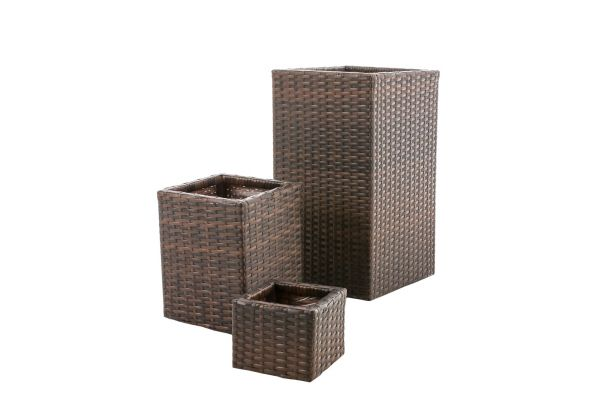 Wicker Bloembak Laura Set